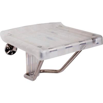 "DreamLine™ Shower Seat SHST-01-PL Shower Seat, Plastic Shower Seat, 15""W, Clear"