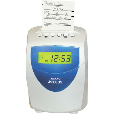 Amano Calculating Time Clock, Blue/White, MRX-35/A140