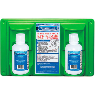 Physicians Care, 16 oz. Double Bottle Eyewash Station, 24-102