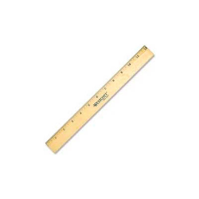"Westcott® Metal Edge Office Ruler, 12"" Long, Wood, Natural"