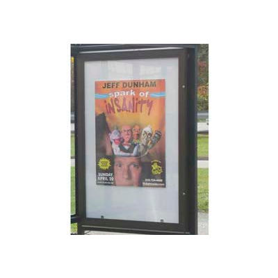 Double Sided Ad Panel Bronze (unlighted)