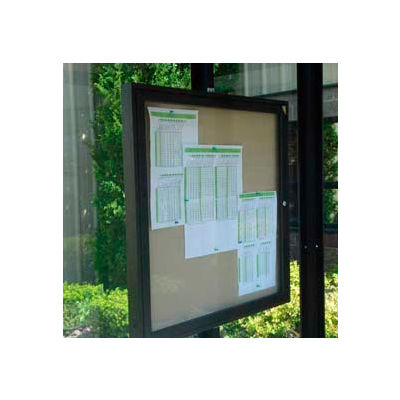 "Weather resistant Bulletin and Schedule Holder Bronze 30"" x 36"""