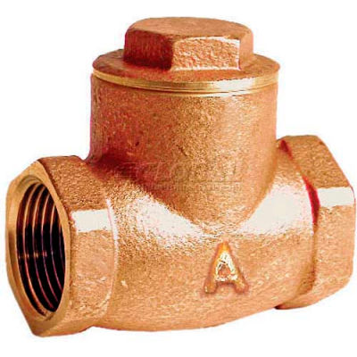 "American Valve G31-1-1/4 Check Valve, Lead-Free, Threaded, 1-1/4"", Brass - Pkg Qty 9"