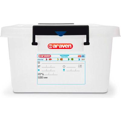 Araven 01173 - Food Storage Container W/Lid, HDPE, 42.2 Qt., Stackable, White - Pkg Qty 6