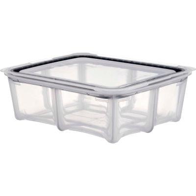 Araven 01804 - Food Storage Container W/Lid, Silicone, 6.3 Qt., 1/2 Size, Translucent - Pkg Qty 4