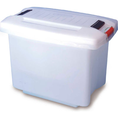 Araven 01850 - Food-Bac Transport Container W/Lid, HDPE, 52.8 Qt., Without Wheels, White - Pkg Qty 6