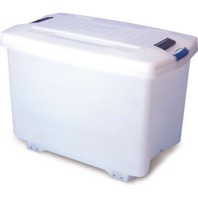Araven 01890 - Food-Bac Transport Container W/Lid, HDPE, 95.1 Qt., W/ Wheels, White - Pkg Qty 4