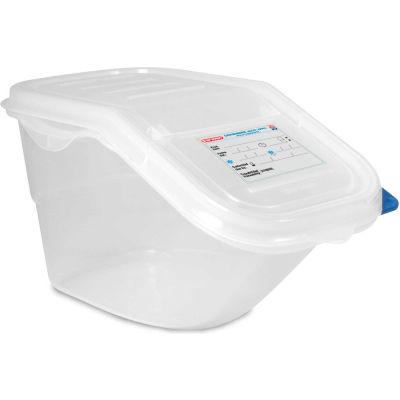 Araven 09146-Ingredient Bin W/Lid, Polypropylene, 7.3 Qt., Translucnet - Pkg Qty 6