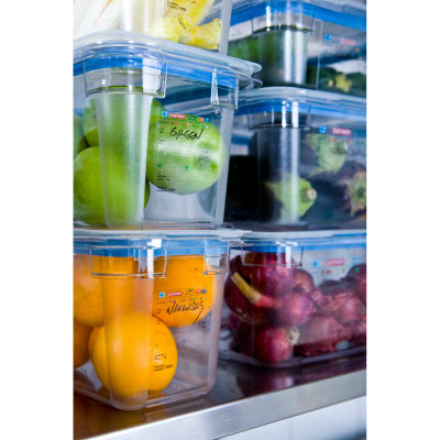 Araven 09818 - Food Pan, Polycarbonate, 4.3 Qt., Stackable, Clear - Pkg Qty 6