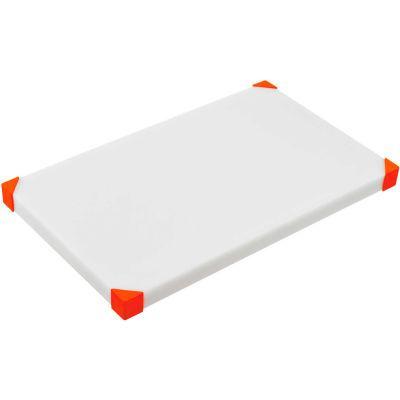 "Araven 22858 - Cutting Board, Non-Slip, HDPE, 23-3/4""W x 15-7/8""D x 7/8""H, White & Red - Pkg Qty 4"