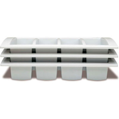 Araven 41128 - Cutlery Tray, Polypropylene, 4 Compartments, 1/1 Size, White - Pkg Qty 10