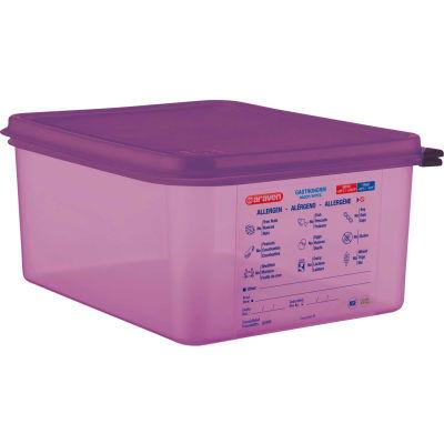 Araven 61391 - Food Container, Anti-Allergen, W/Lid, Polypropylene, 10.5 Qt., 1/2 Size, Purple - Pkg Qty 6