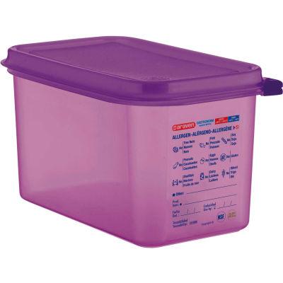 Araven 61392 - Food Container, Anti-Allergen, W/Lid, Polypropylene, 4.5 Qt., 1/4 Size, Purple - Pkg Qty 6