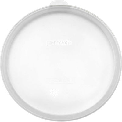 "Araven 91003 - Round Food Storage Container Lid, Silicone, 9-1/4"" Diameter, Transparent - Pkg Qty 10"