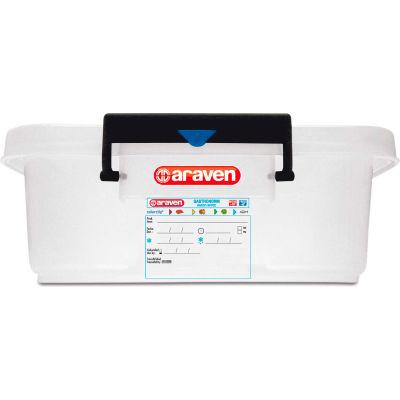 Araven 91172 - Food Storage Container W/Lid, HDPE, 31.7 Qt., Stackable, Transparent - Pkg Qty 6