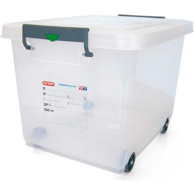 Araven 91183 - Food Storage Container W/Lid, HDPE, 63.4 Qt., Stackable, Transparent - Pkg Qty 4