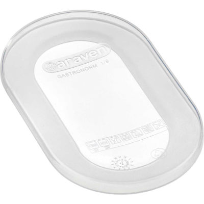 Araven 91811 - Lid, Airtight, Silicone, 1/9 Size, Transparent - Pkg Qty 10