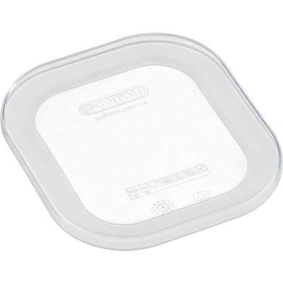 Araven 91812 - Lid, Airtight, Silicone, 1/6 Size, Transparent - Pkg Qty 10