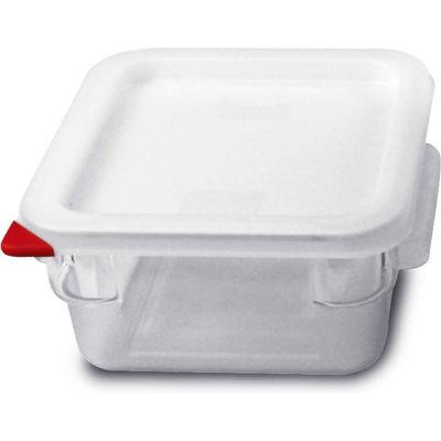Araven 91851 - Food Storage Container W/Lid, Polycarbonate, 2.1 Qt., Colorclip®, Clear - Pkg Qty 6