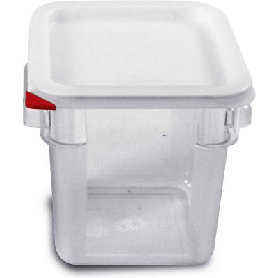 Araven 91852 - Food Storage Container W/Lid, Polycarbonate, 4.2 Qt., Colorclip®, Clear - Pkg Qty 6