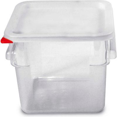 Araven 91853 - Food Storage Container W/Lid, Polycarbonate, 6.3 Qt., Colorclip®, Clear - Pkg Qty 6