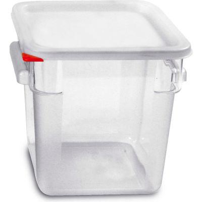 Araven 91854 - Food Storage Container W/Lid, Polycarbonate, 8.4 Qt., Colorclip®, Clear - Pkg Qty 6