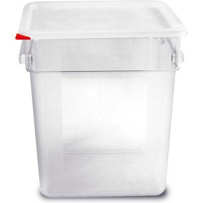 Araven 91856 - Food Storage Container W/Lid, Polycarbonate, 19 Qt., Colorclip®, Clear - Pkg Qty 6