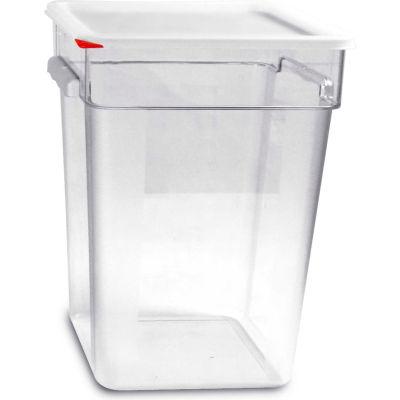Araven 91857 - Food Storage Container W/Lid, Polycarbonate, 23.2 Qt., Colorclip®, Clear - Pkg Qty 6
