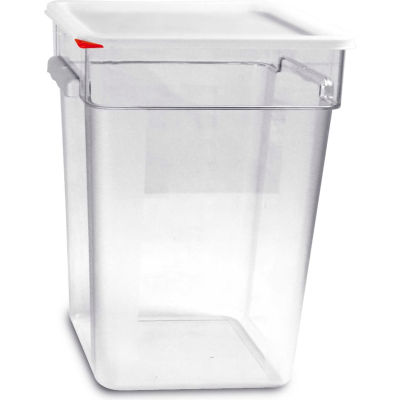 Araven 91857 - Food Storage Container W/Lid, Polycarbonate, 23.2 Qt., Colorclip®, Clear - Pkg Qty 6