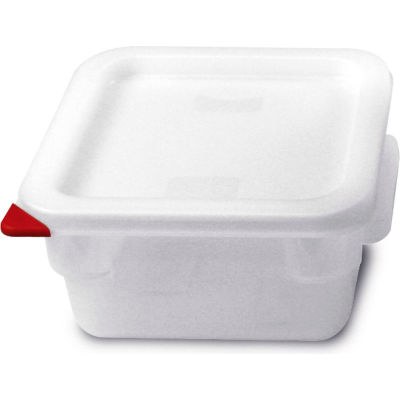Araven 91860 - Food Storage Container W/Lid, Polycarbonate, 2.1 Qt., Colorclip®, Transparent - Pkg Qty 6