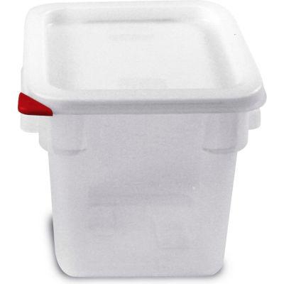 Araven 91861 - Food Storage Container W/Lid, Polycarbonate, 4.2 Qt., Colorclip®, Transparent - Pkg Qty 6