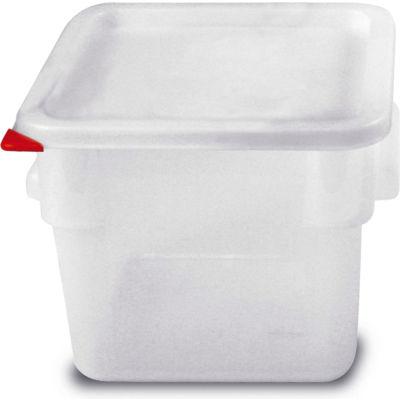 Araven 91862 - Food Storage Container W/Lid, Polycarbonate, 6.3 Qt., Colorclip®, Transparent - Pkg Qty 6