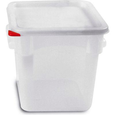 Araven 91863 - Food Storage Container W/Lid, Polycarbonate, 8.4 Qt., Colorclip®, Transparent - Pkg Qty 6