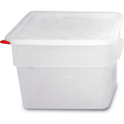 Araven 91864 - Food Storage Container W/Lid, Polycarbonate, 12.6 Qt., Colorclip®, Transparent - Pkg Qty 6