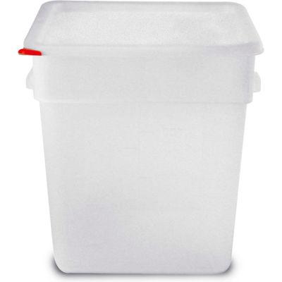 Araven 91865 - Food Storage Container W/Lid, Polypropylene, 19 Qt., Colorclip®, Transparent - Pkg Qty 6