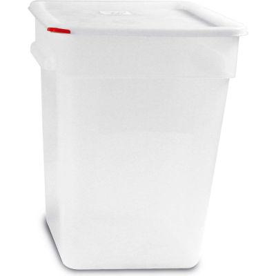 Araven 91866 - Food Storage Container W/Lid, Polycarbonate, 23.2 Qt., Colorclip®, Transparent - Pkg Qty 6