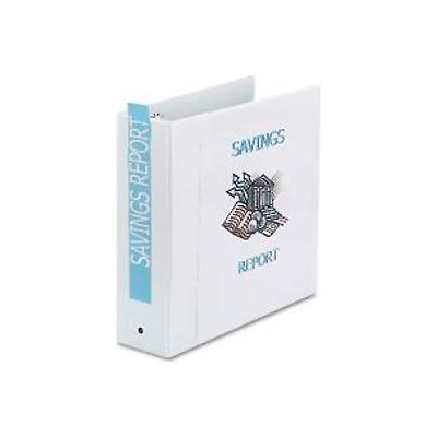 """Economy Reference View Binders, 3"""" Capacity, White"""