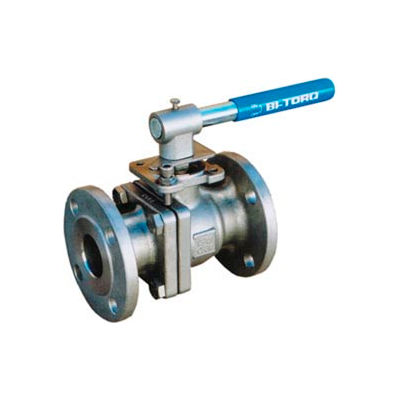 "4"" SS Split Body ANSI 150# Flanged Ball Valve With Manual Handle"
