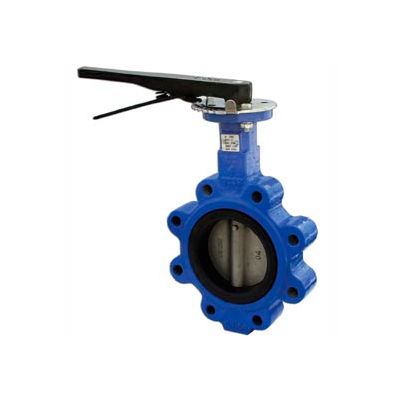 """6"""" Lug Style Butterfly Valve W/ Buna Seals and 10 Position Handle"""