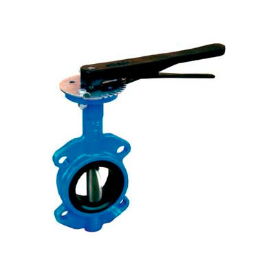 """3"""" Wafer Style Butterfly Valve W/ Buna Seals and 10 Position Handle"""