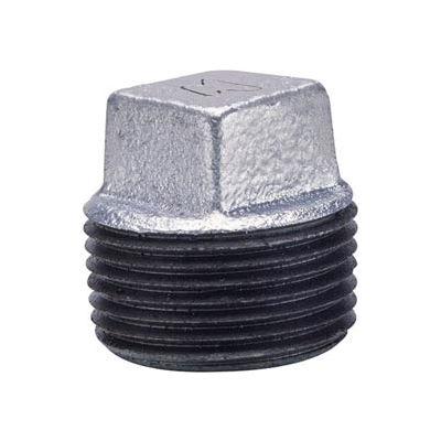 Anvil 1-1/4 Galv Ci Solid Sq Head Plug