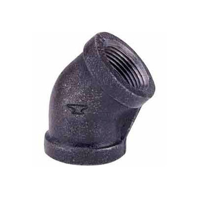 2 In. Black Malleable 45 Degree Elbow 150 PSI Lead Free