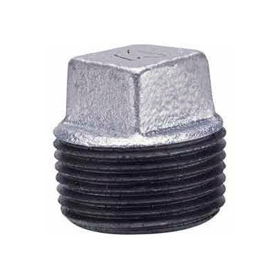 3/4 In Galvanized Malleable Cored Plug 150 PSI Lead Free