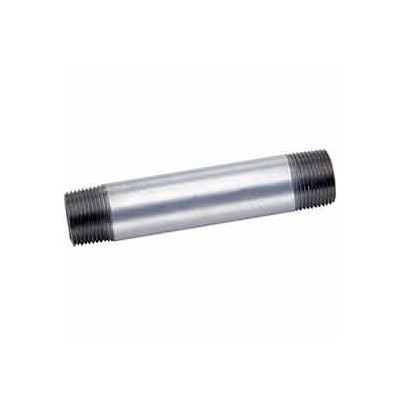 1-1/4 In X 3 In Galvanized Steel Pipe Nipple 150 PSI Lead Free