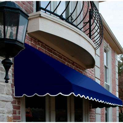 "Awntech CF43-5N, Window/Entry Awning 5' 4-1/2""W x 3'D x 4' 8""H Navy"