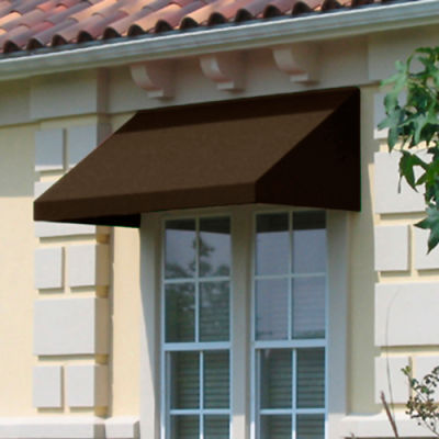 "Awntech CN34-4BRN, Window/Entry Awning 4' 4-1/2""W x 4'D x 3' 8""H Brown"