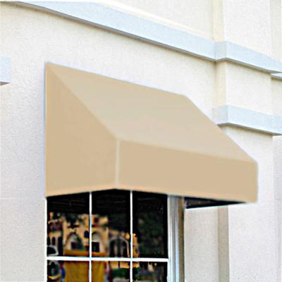 """Awntech CN34-8L, Window/Entry Awning 8' 4 -1/2""""W x 4'D x 3' 8""""H Linen"""