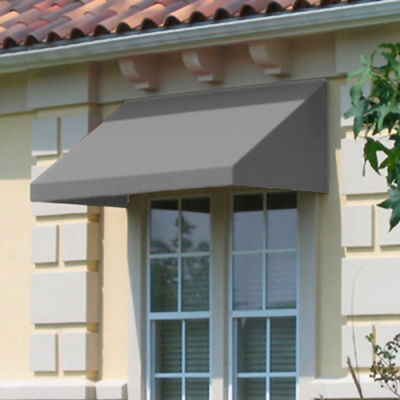 "Awntech CN43-8G, Window/Entry Awning 8' 4-1/2""W x 3'D x 4' 8""H Gray"