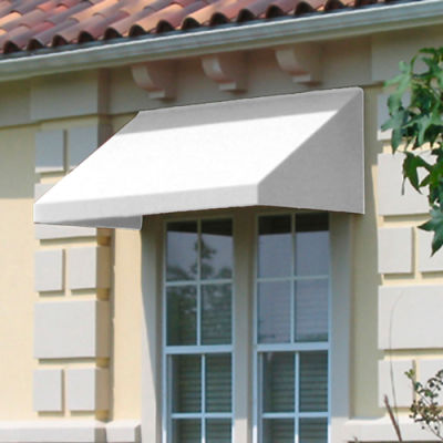 "Awntech CN43-8W, Window/Entry Awning 8' 4-1/2""W x 3'D x 4' 8""H Off White"