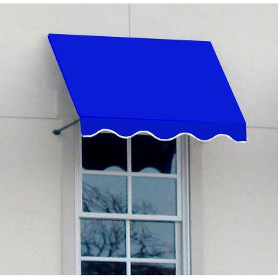 "Awntech CR33-4BB, Window/Entry Awning 4' 4-1/2""W x 3'D x 3' 8""H Bright Blue"